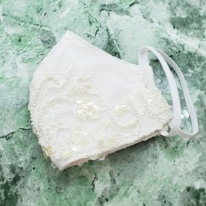 Bridal Beaded Sequin Adult Face Mask 1 Pc